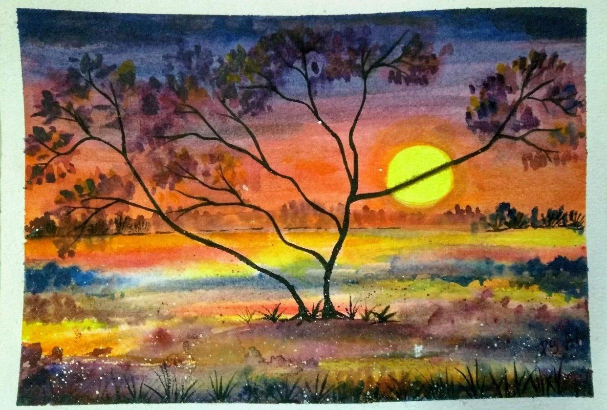 Purple Sunset - student project