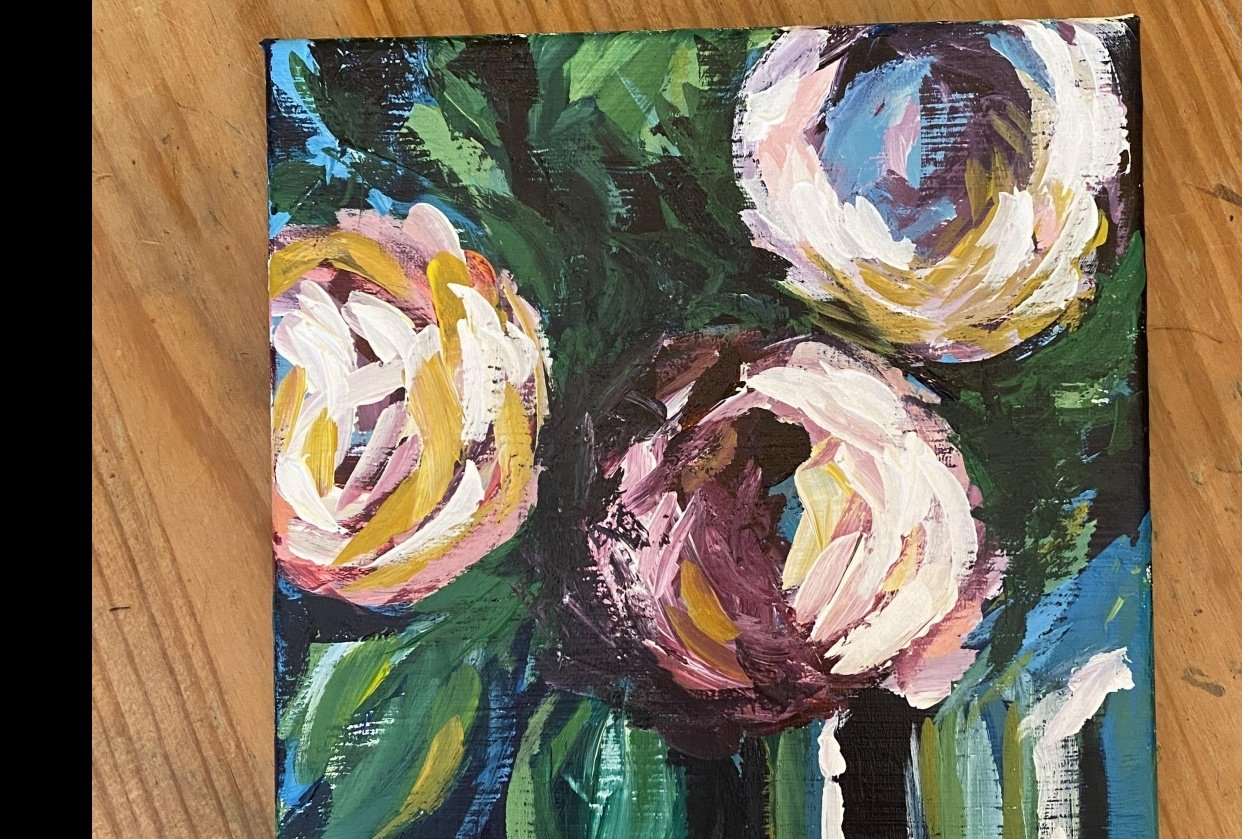 Abstract Flowers - student project