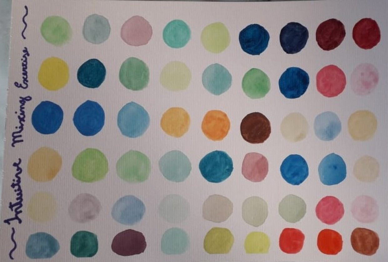 Color Play / Intuitive Mixing - student project