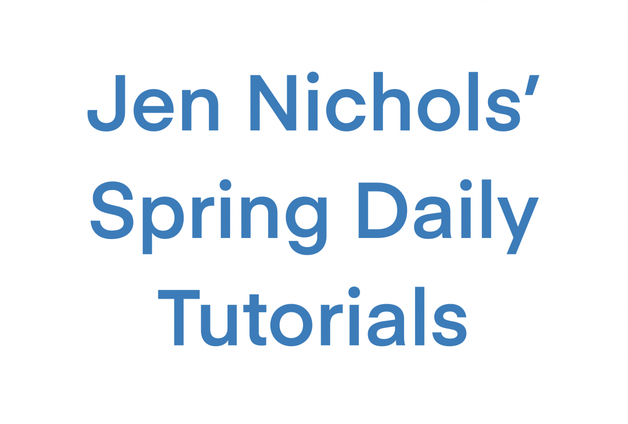 Spring Daily - student project