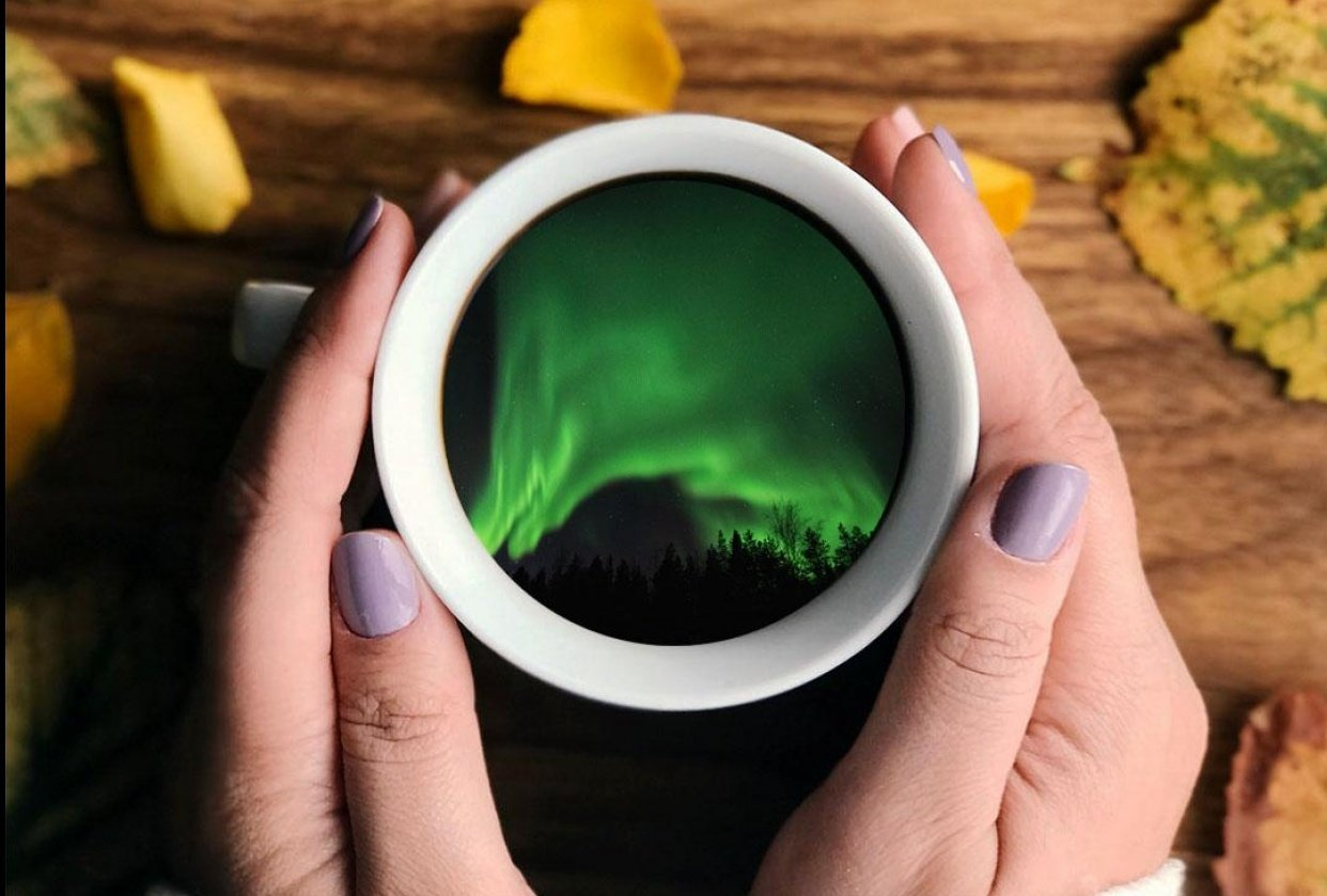 Northern Light in a TeaCup - student project