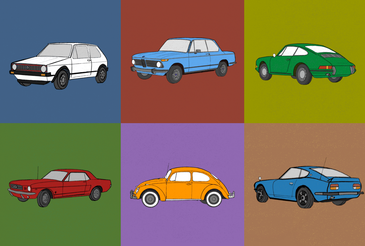 Classic car series - student project