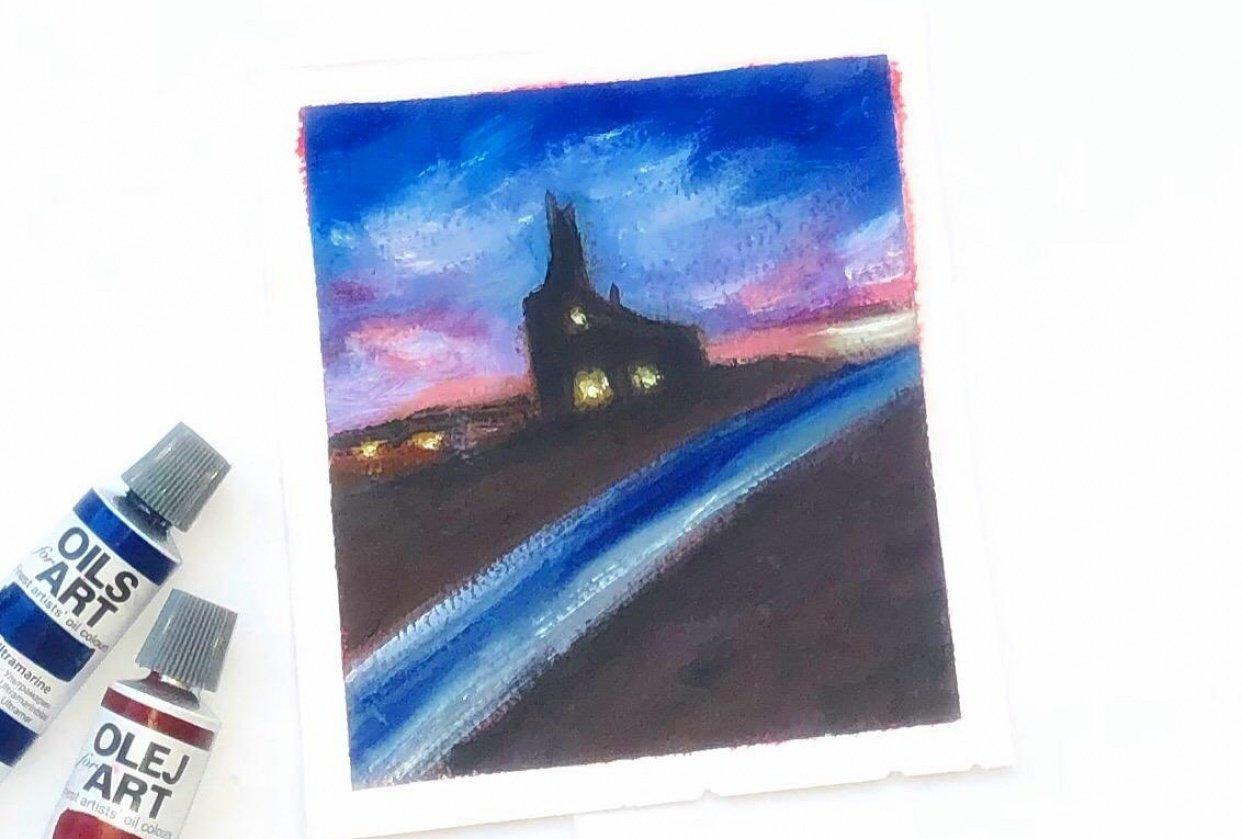 Impressionist landscape Focal point - student project