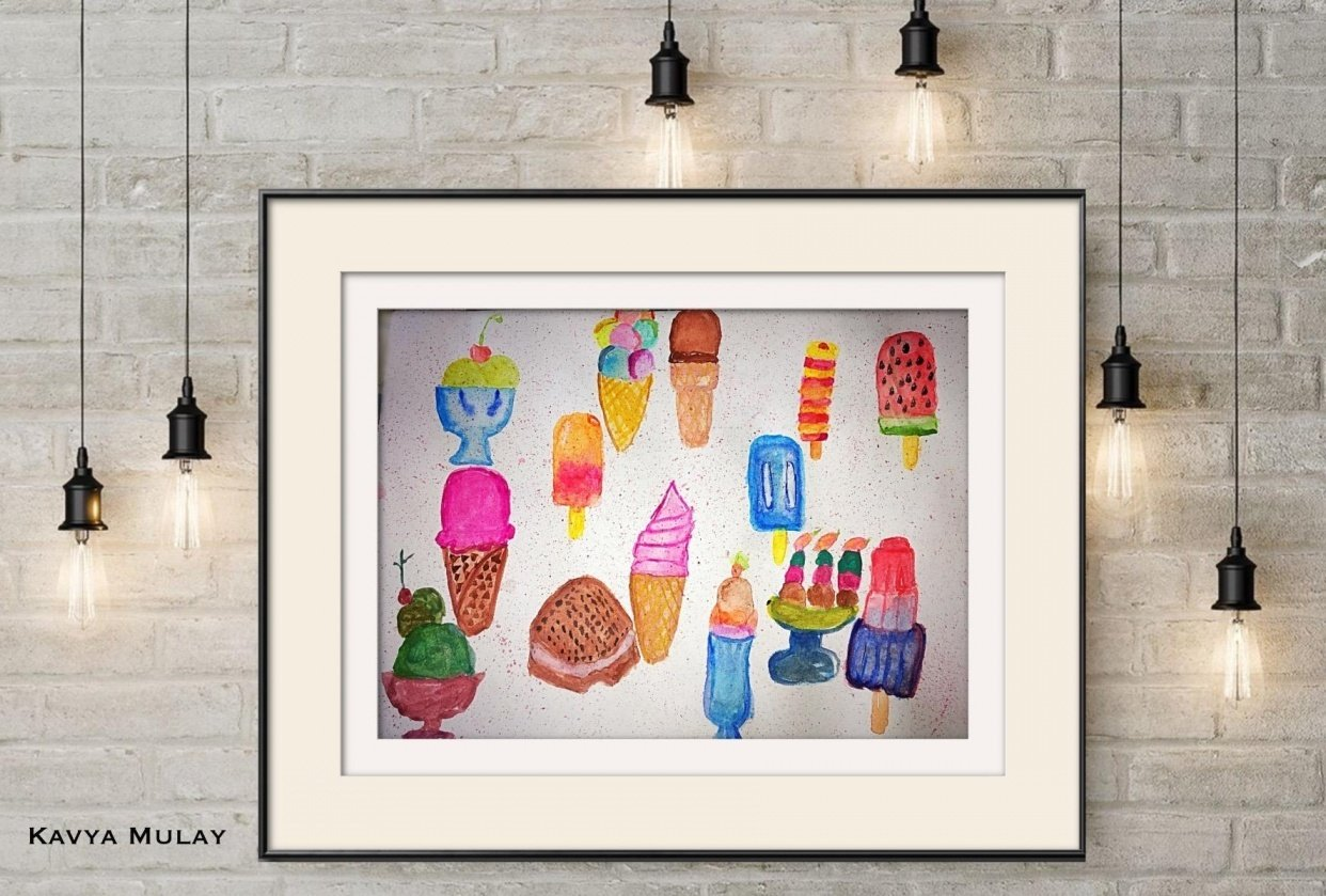 Watercolour Ice-creams - student project