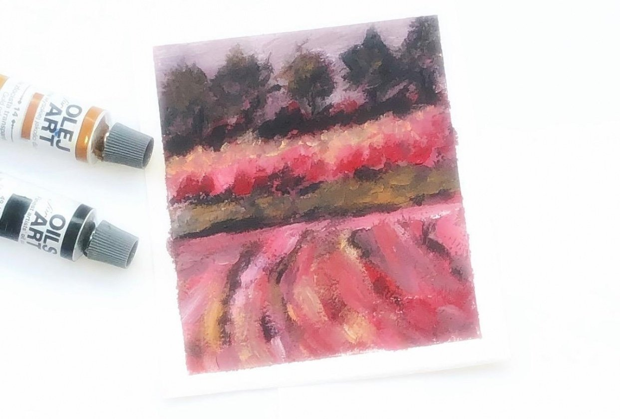 Impressionist landscape- rhythm and movement - student project