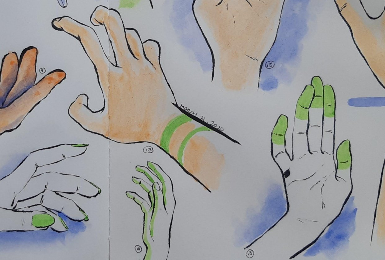 100 Hand Sketches - student project