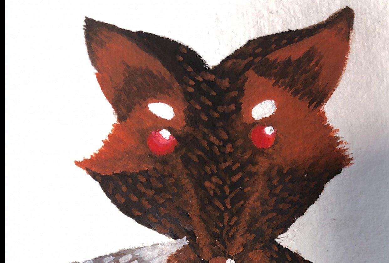 Melanistic Fox Ilustration - student project