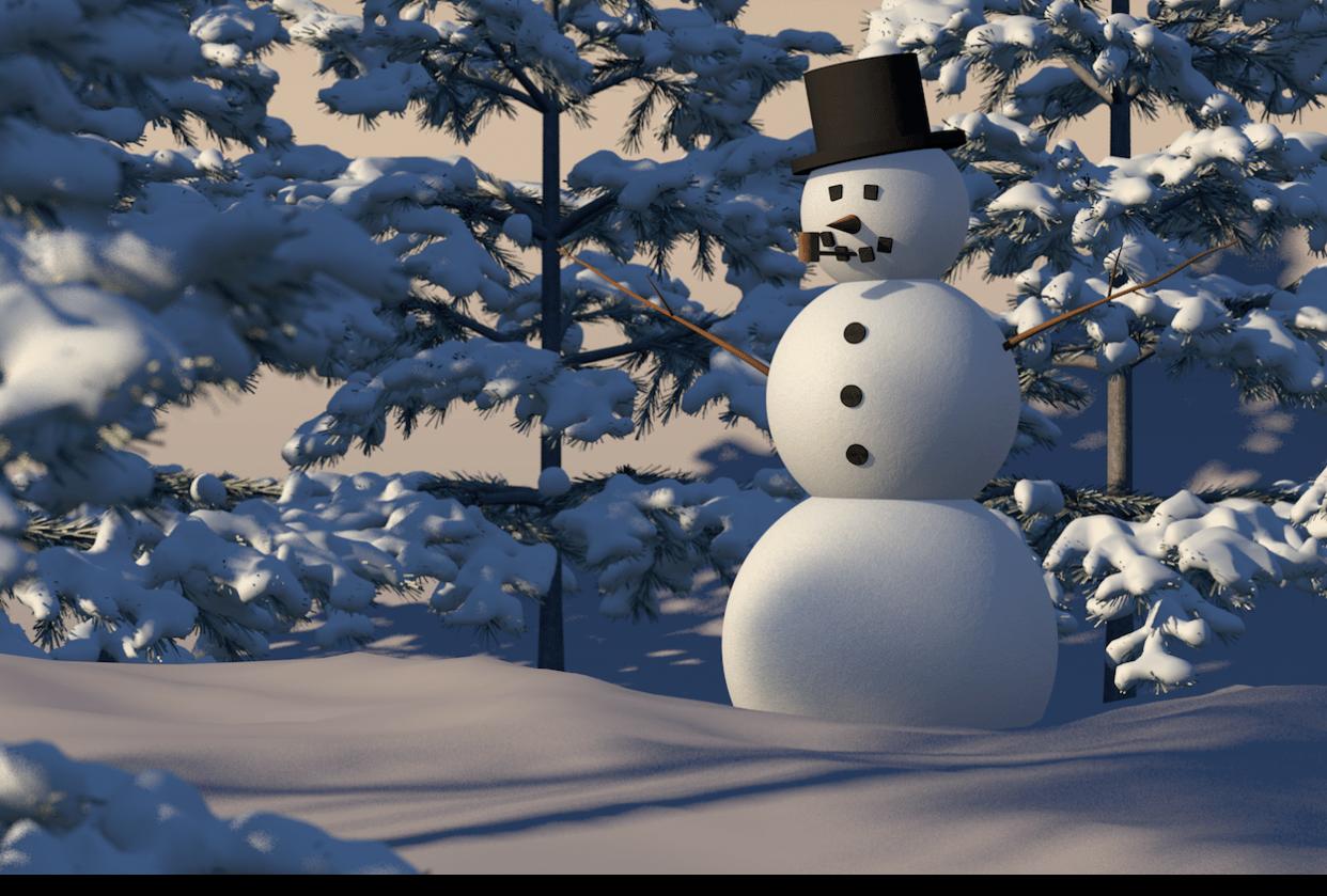 Snowman Render - student project