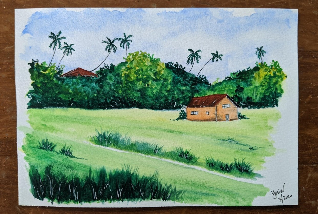 green landscape - student project
