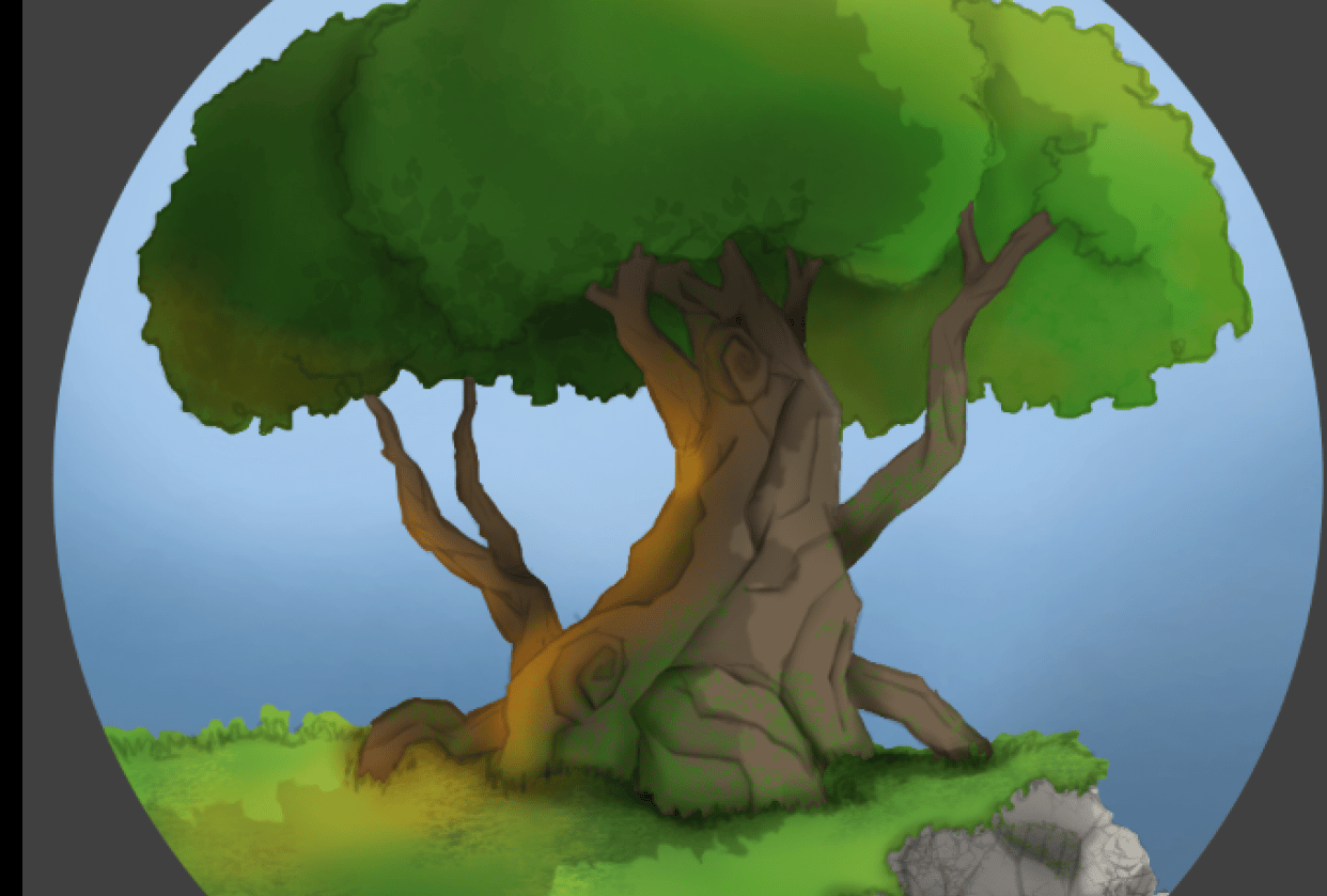 tree   cliff - student project