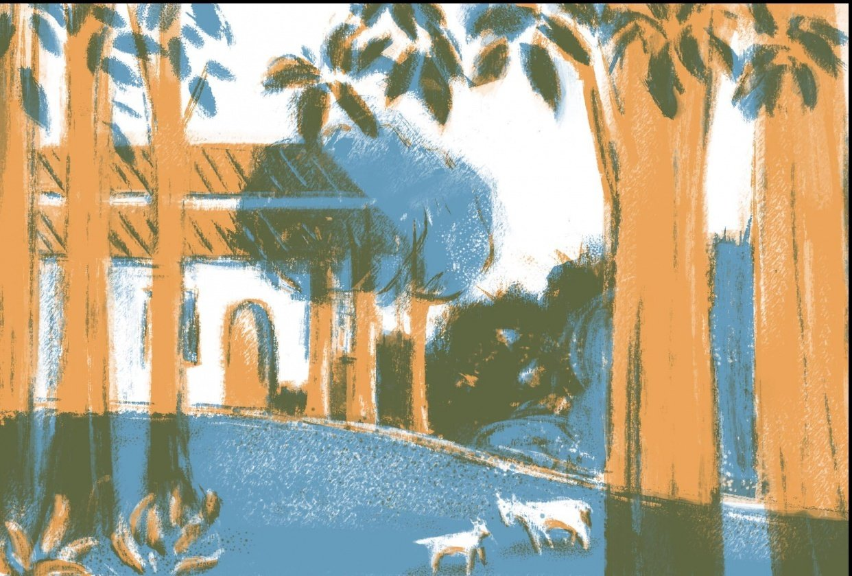 Redraw a painting of Maurice Denis - student project