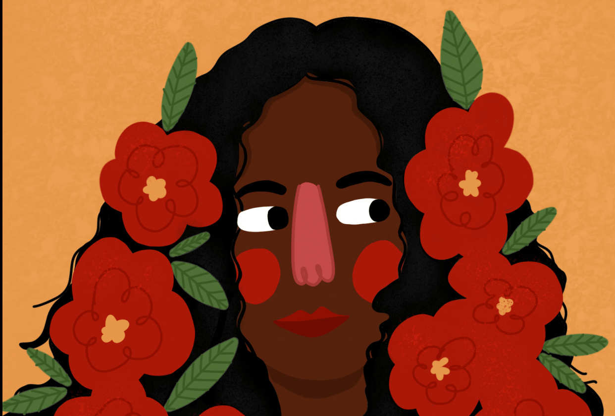 flowery flower girl! - student project