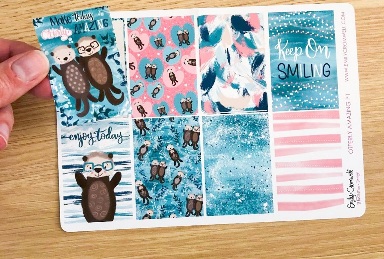 Otterly Adorable Planner Sticker Sheet - student project