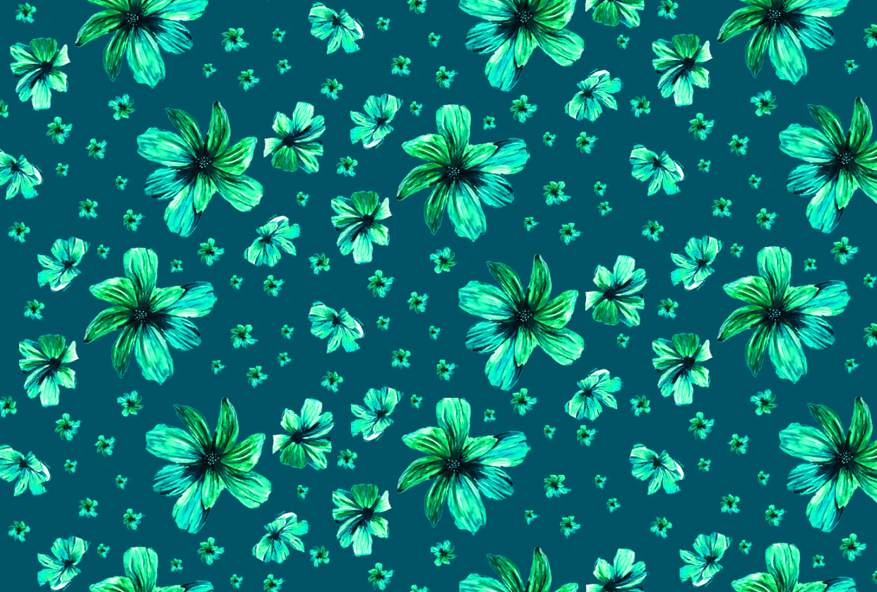 Tropical Floral - student project