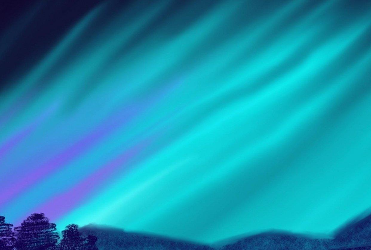 Aurora lights - student project