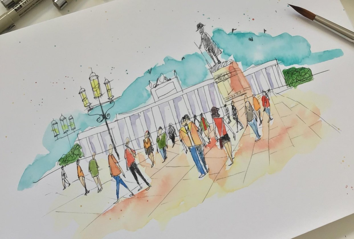 urban sketching - student project