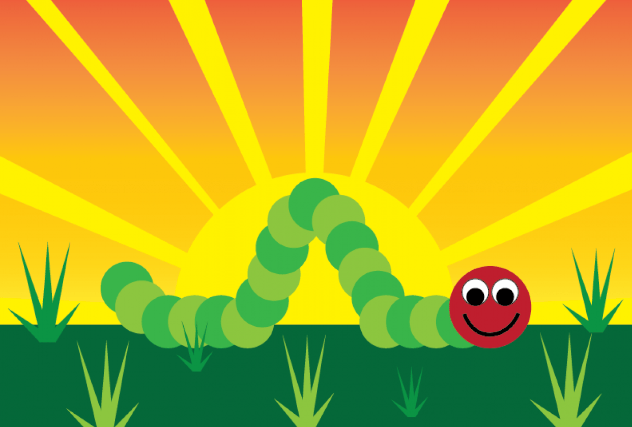 The Very Happy Caterpillar and more - student project
