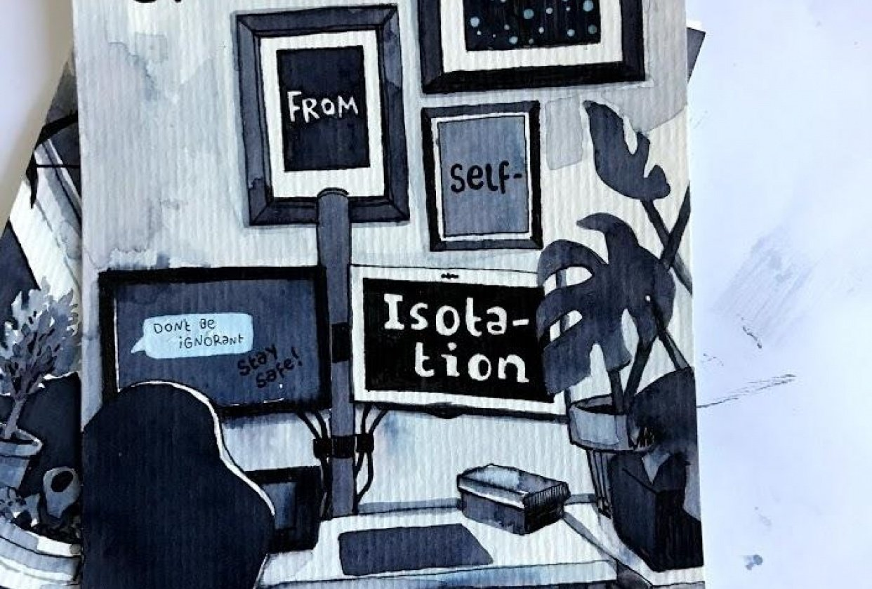 Greetings from selfisolation. - student project