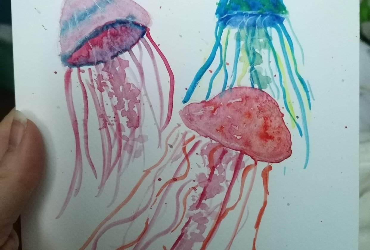Fun with Watercolour - student project