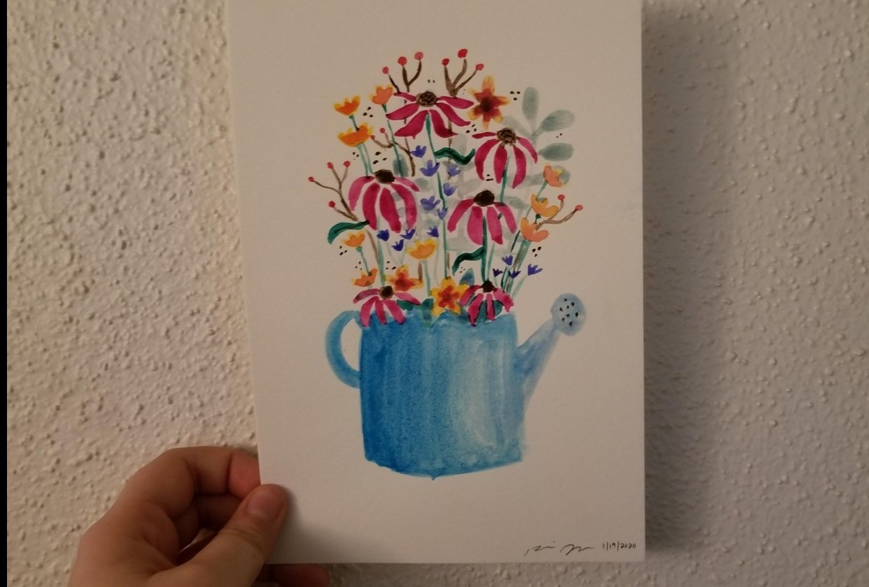 Watercolor Flowers - student project