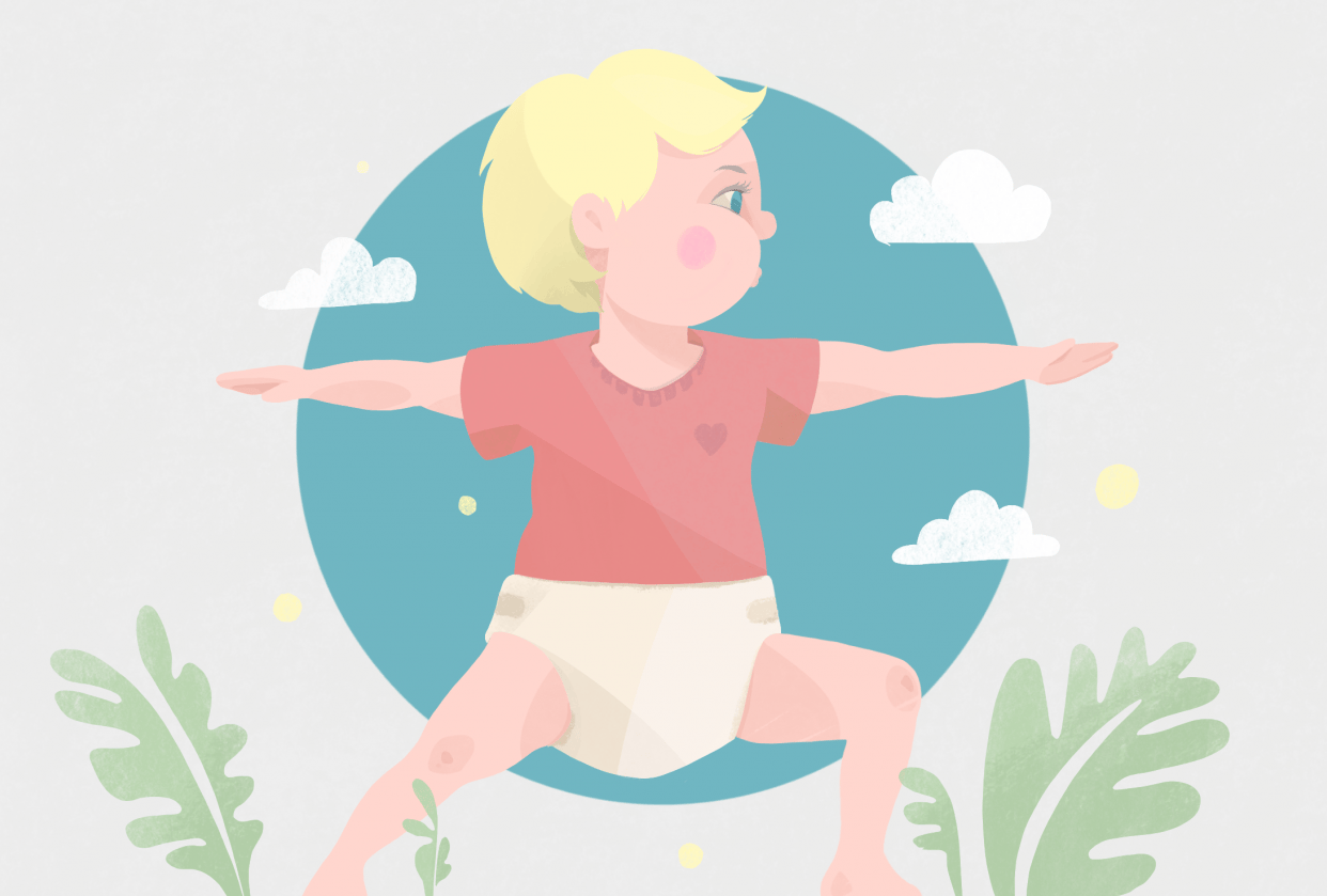 Baby yoga - student project
