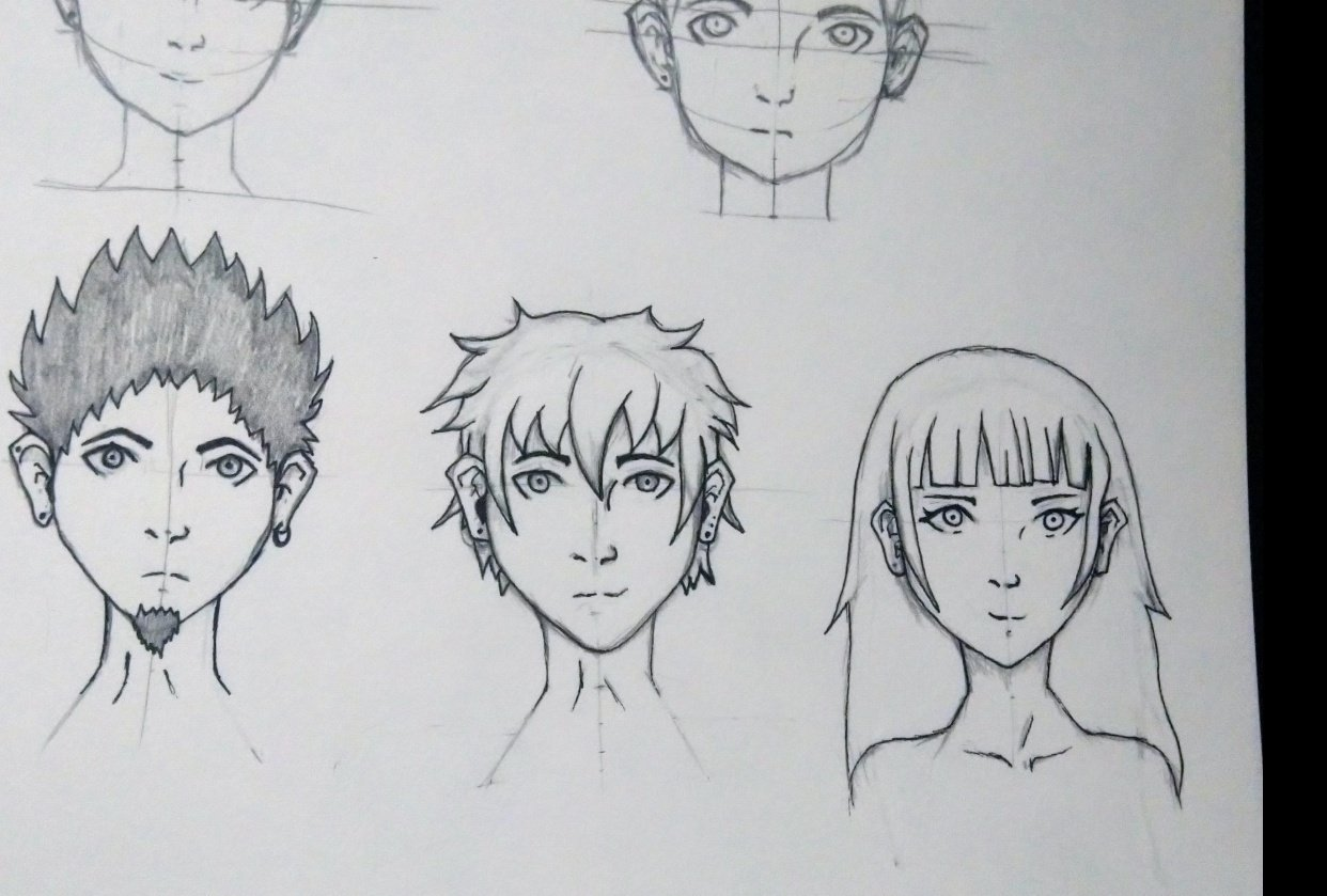 Face Drawing - student project