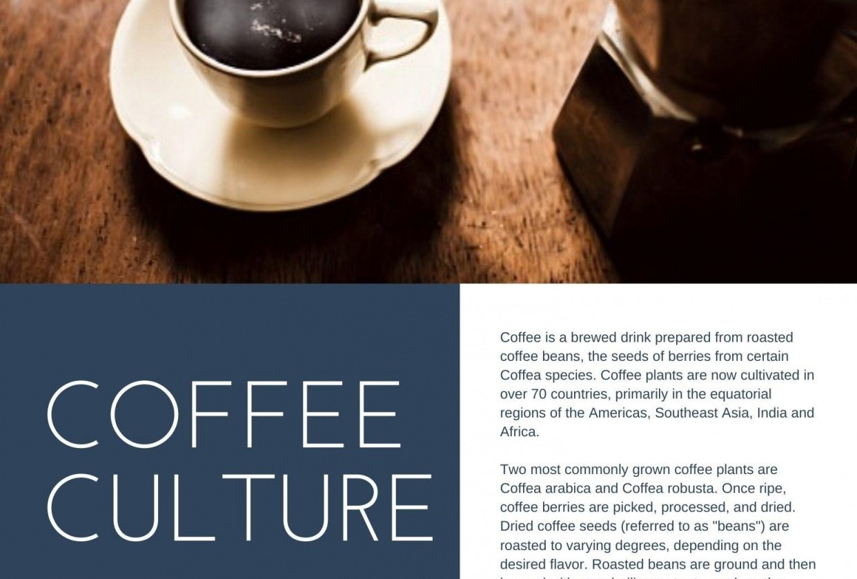 Coffee article (*) - student project