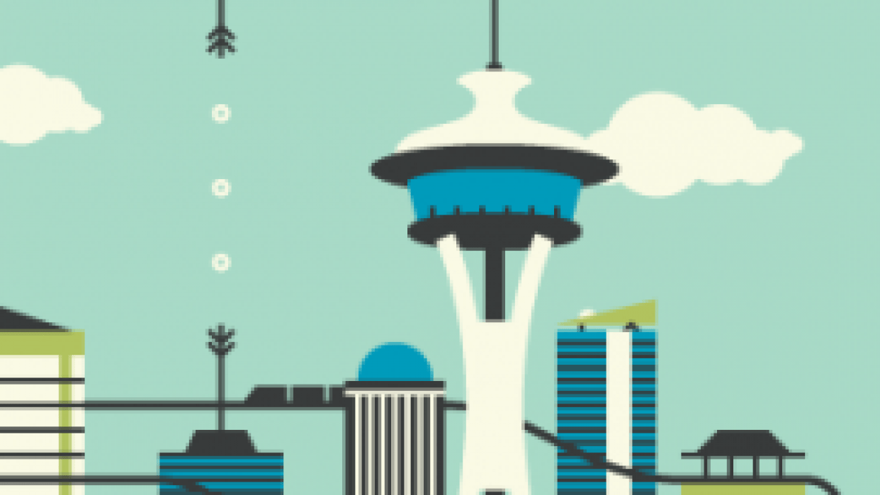 Seattle Postcard - student project