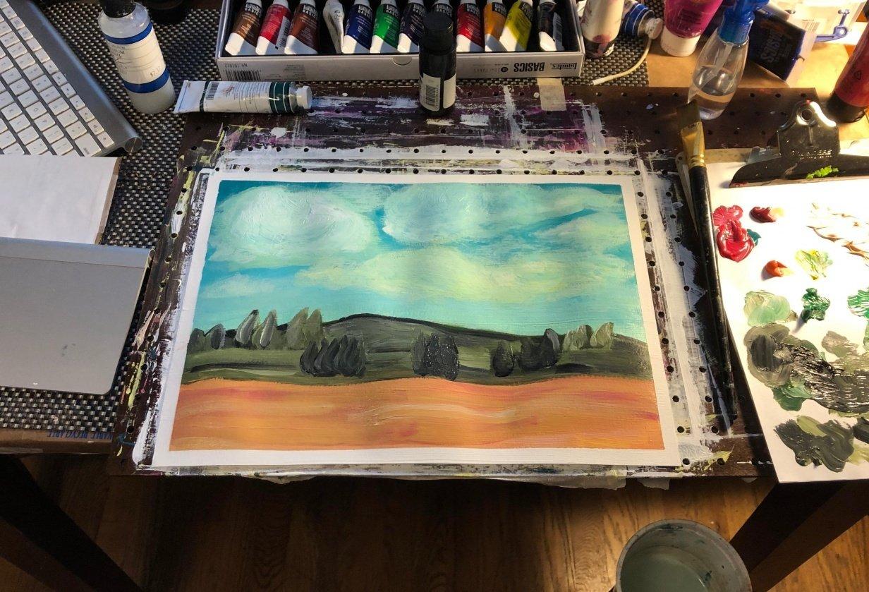 Belgium Impressionist Landscape - student project