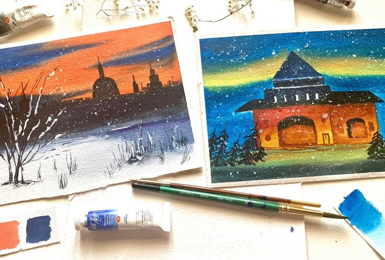 light filled winter nights! - student project