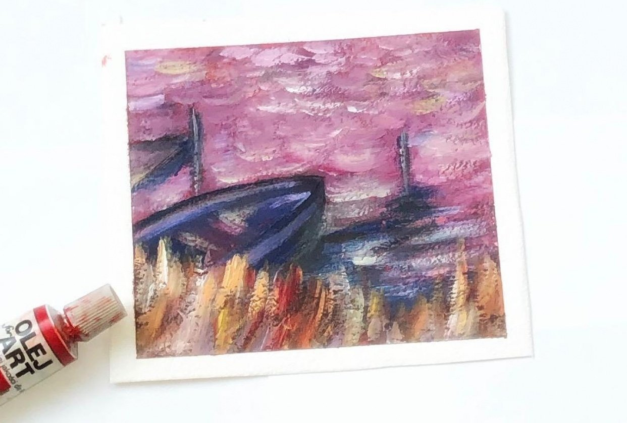 Impressionist landscape- composition - student project