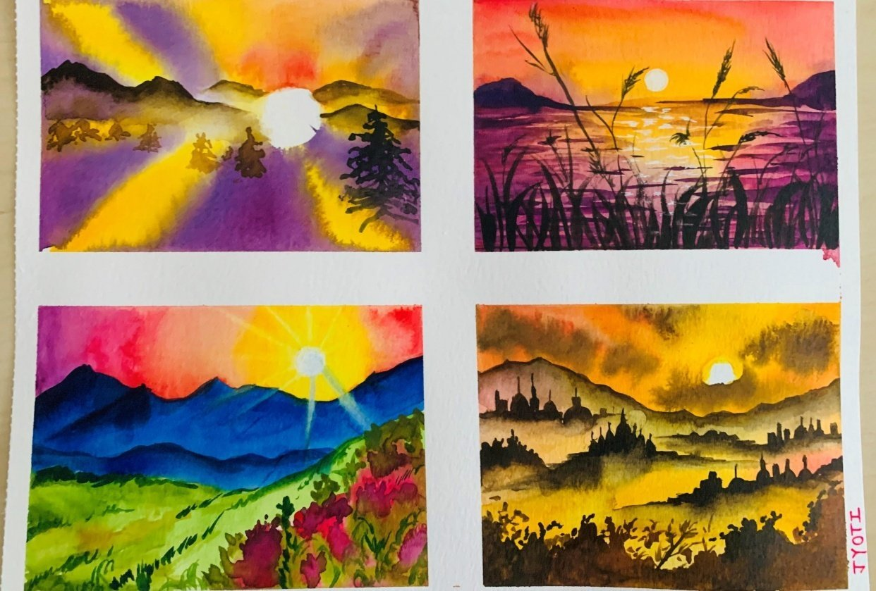 Magical Sunsets - student project