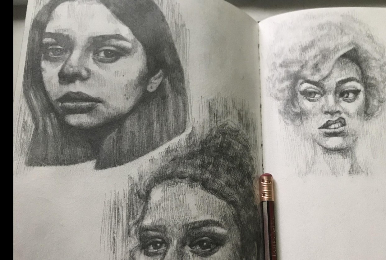 portrait drawings! - student project