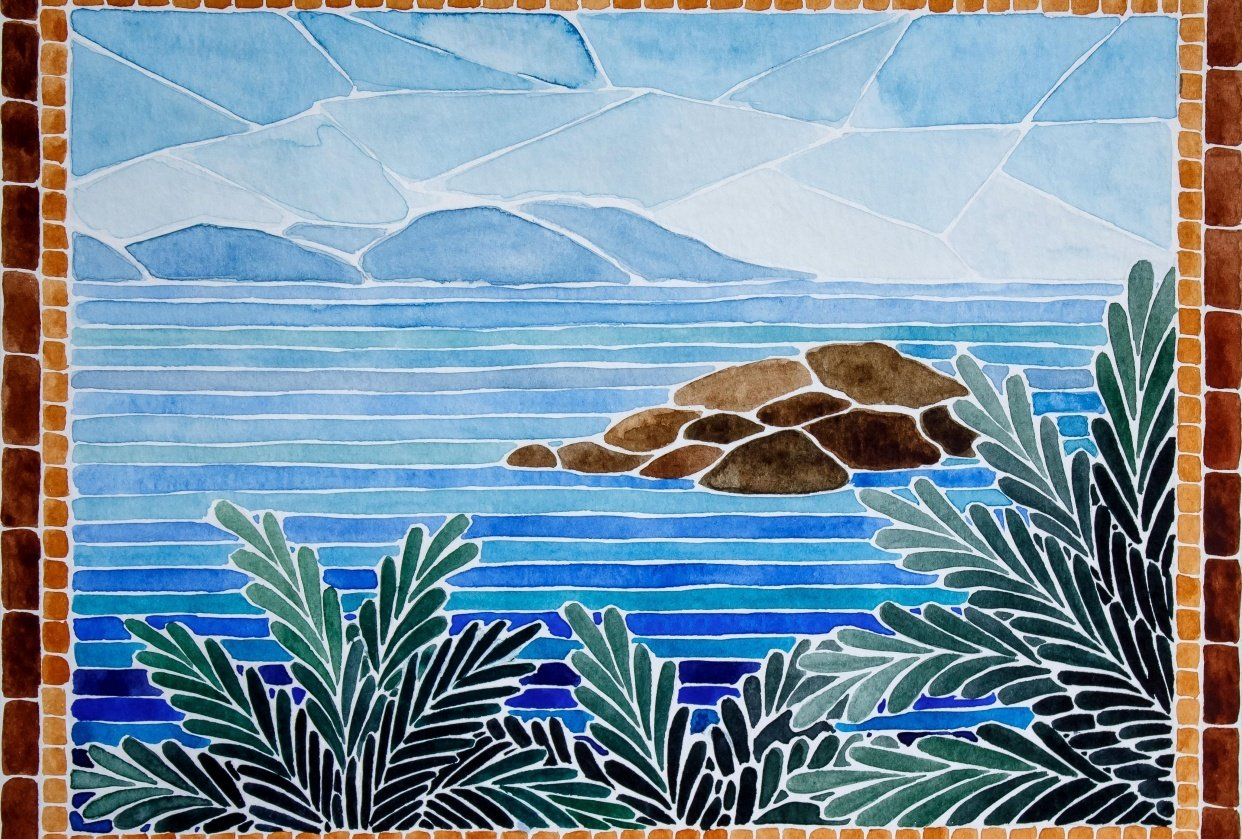Turkish island mosaic - student project