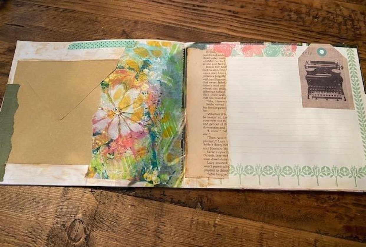 Up-cycled Brochure by Tracy - student project