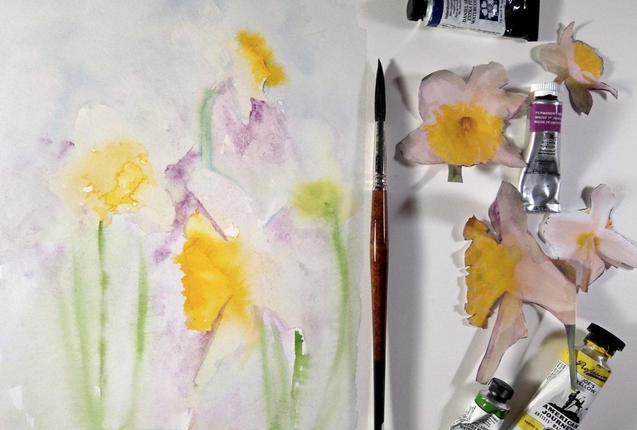 Daffodil Flat Lay - student project