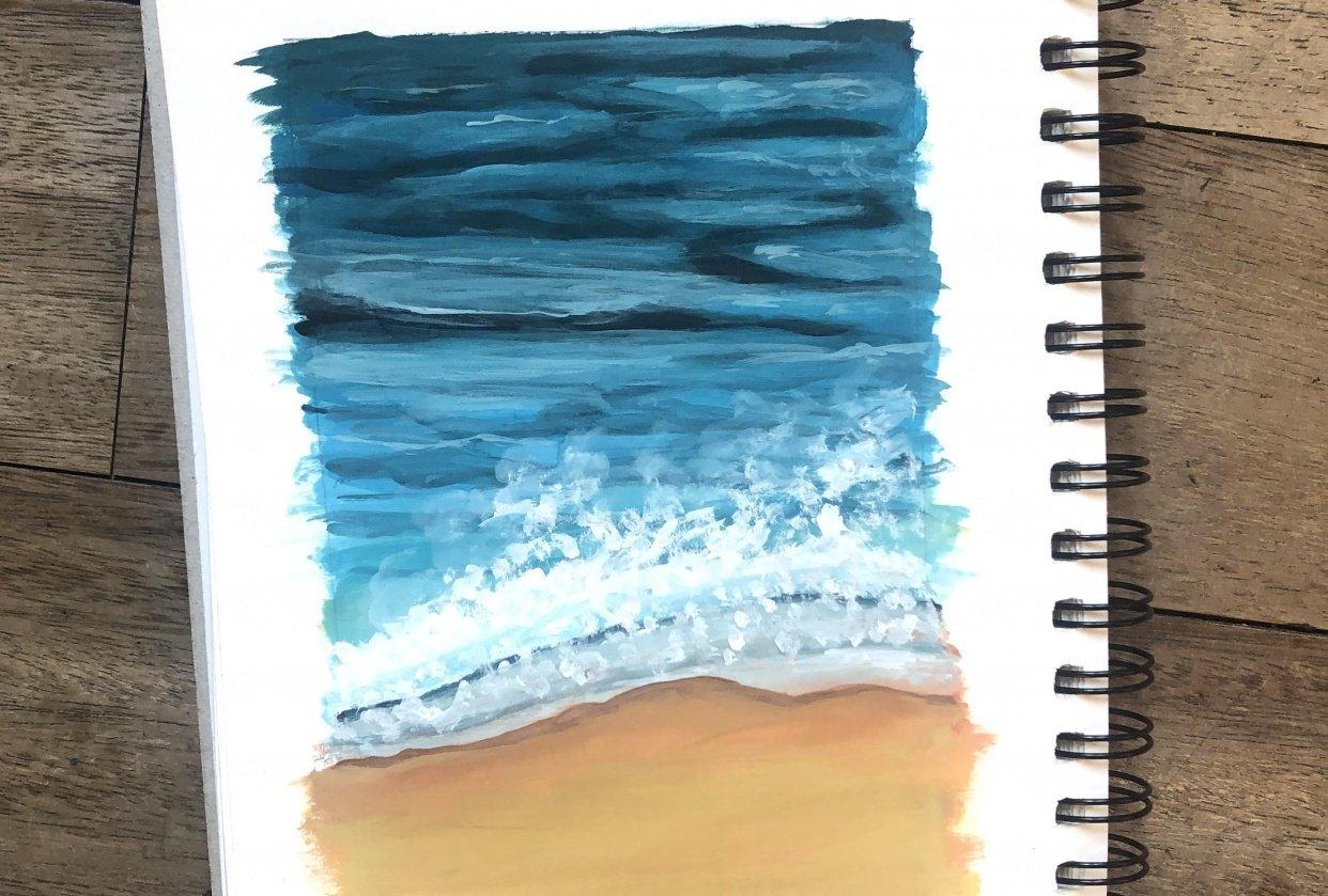 Summer beach - student project