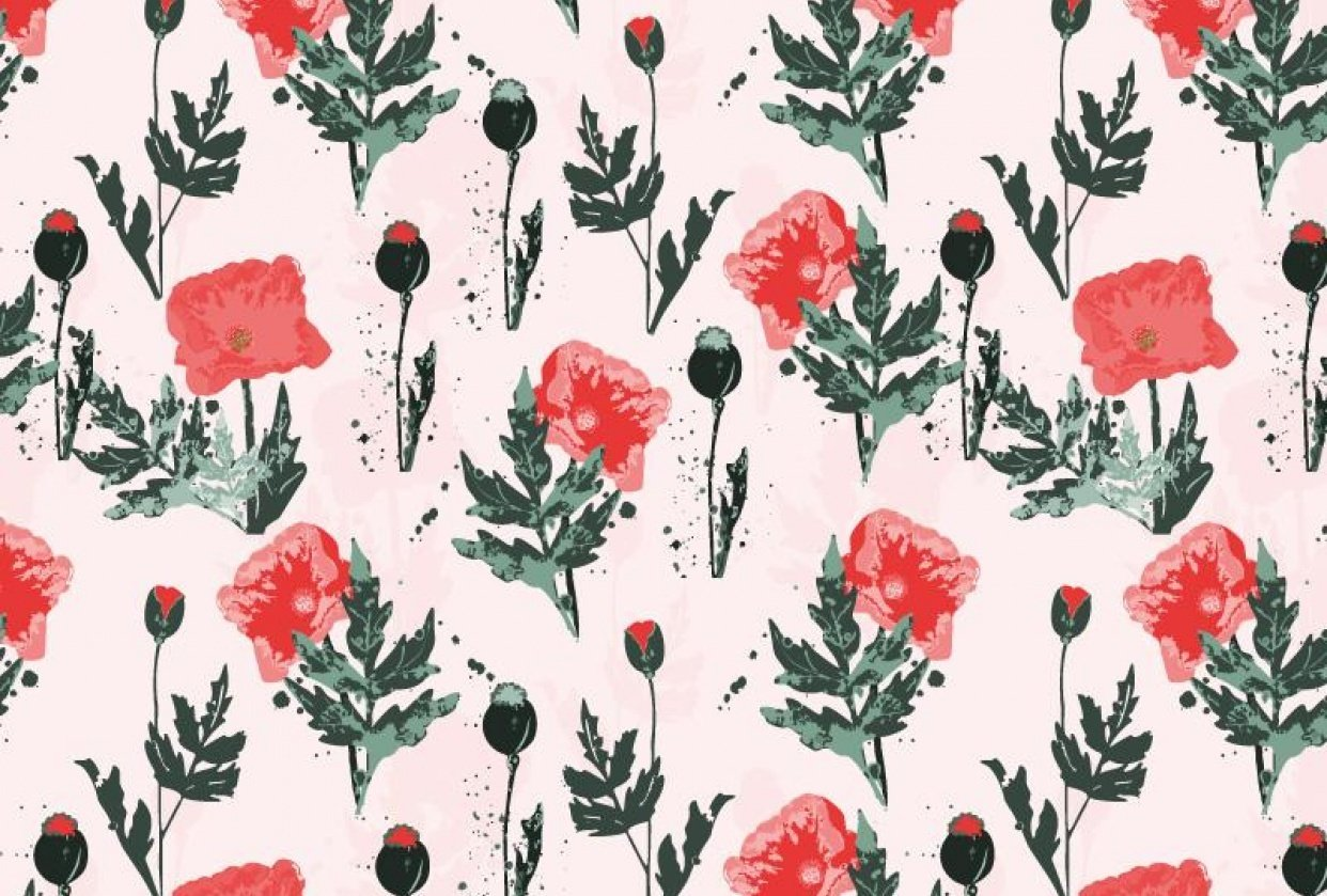 Poppy flower - student project