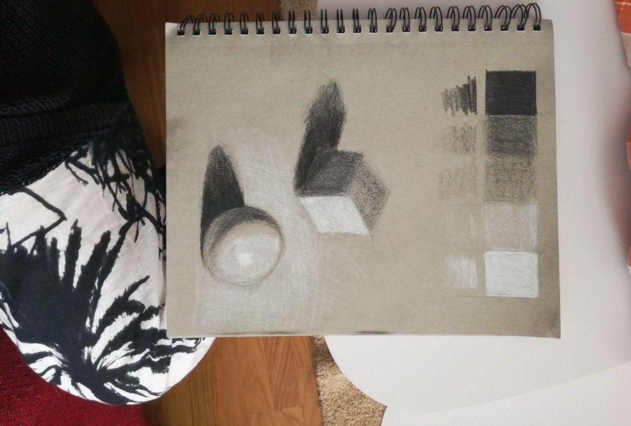 Shading fundamentals, drawing with light day 5 - student project