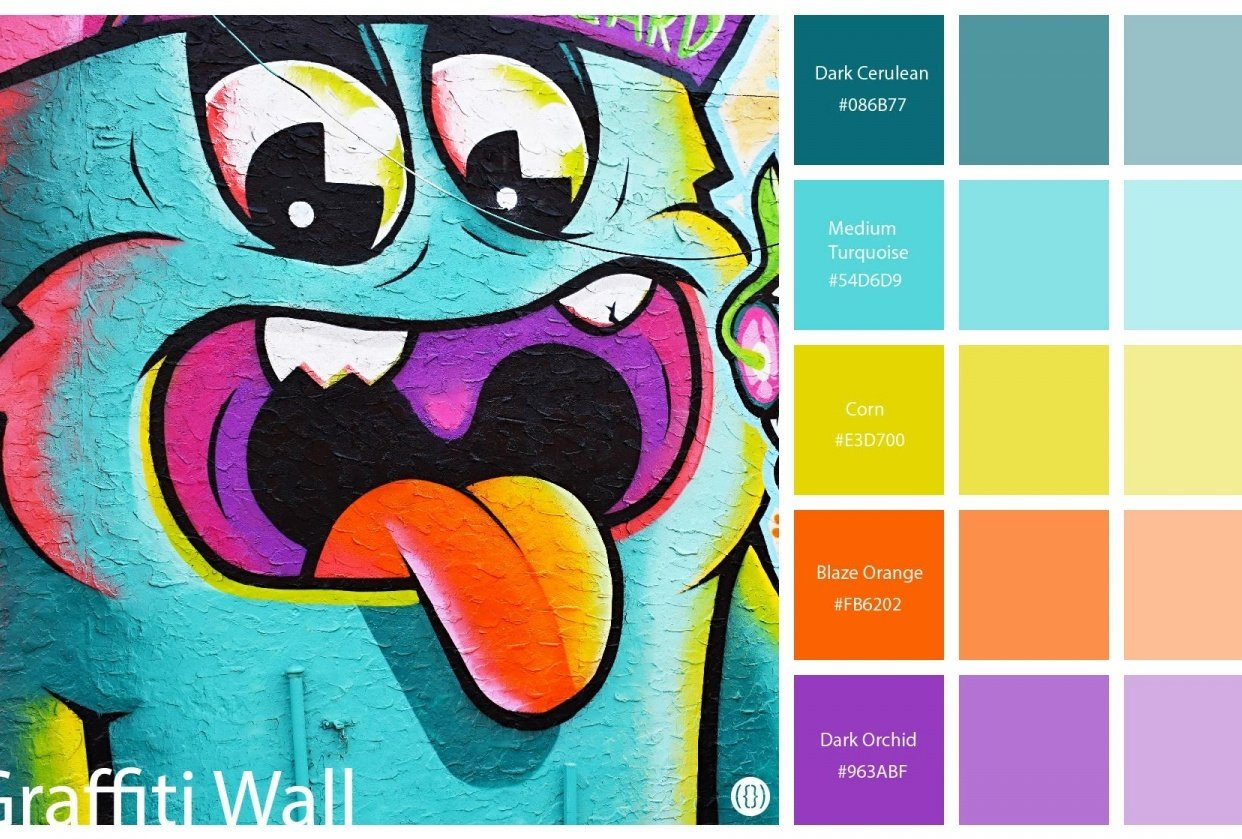 Graffiti wall-color palette - student project