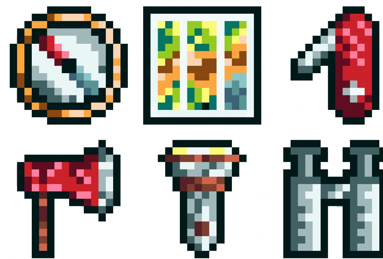 Camping Item Set - student project