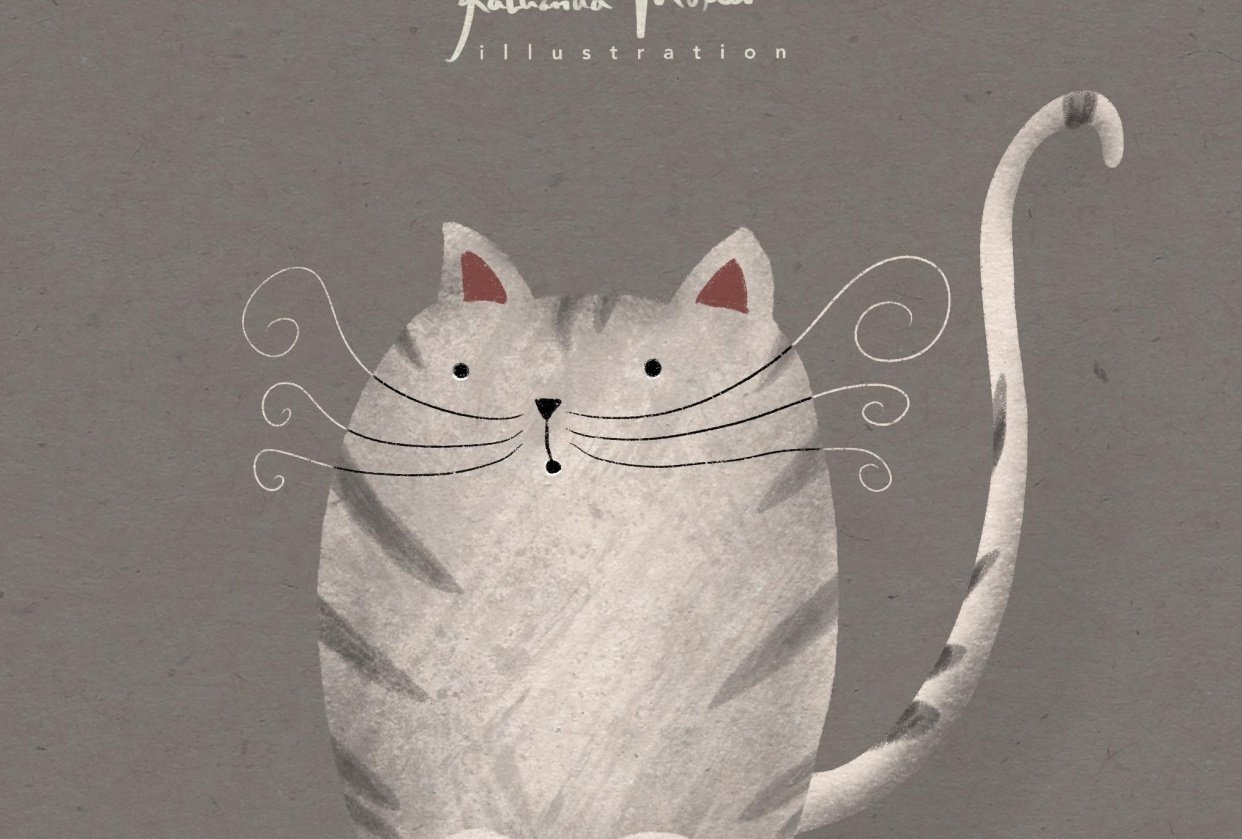 Cat illustration - student project