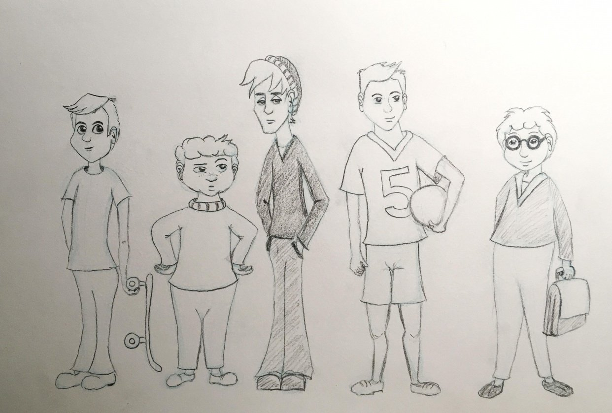 Assignment - 5 Boy Characters - student project