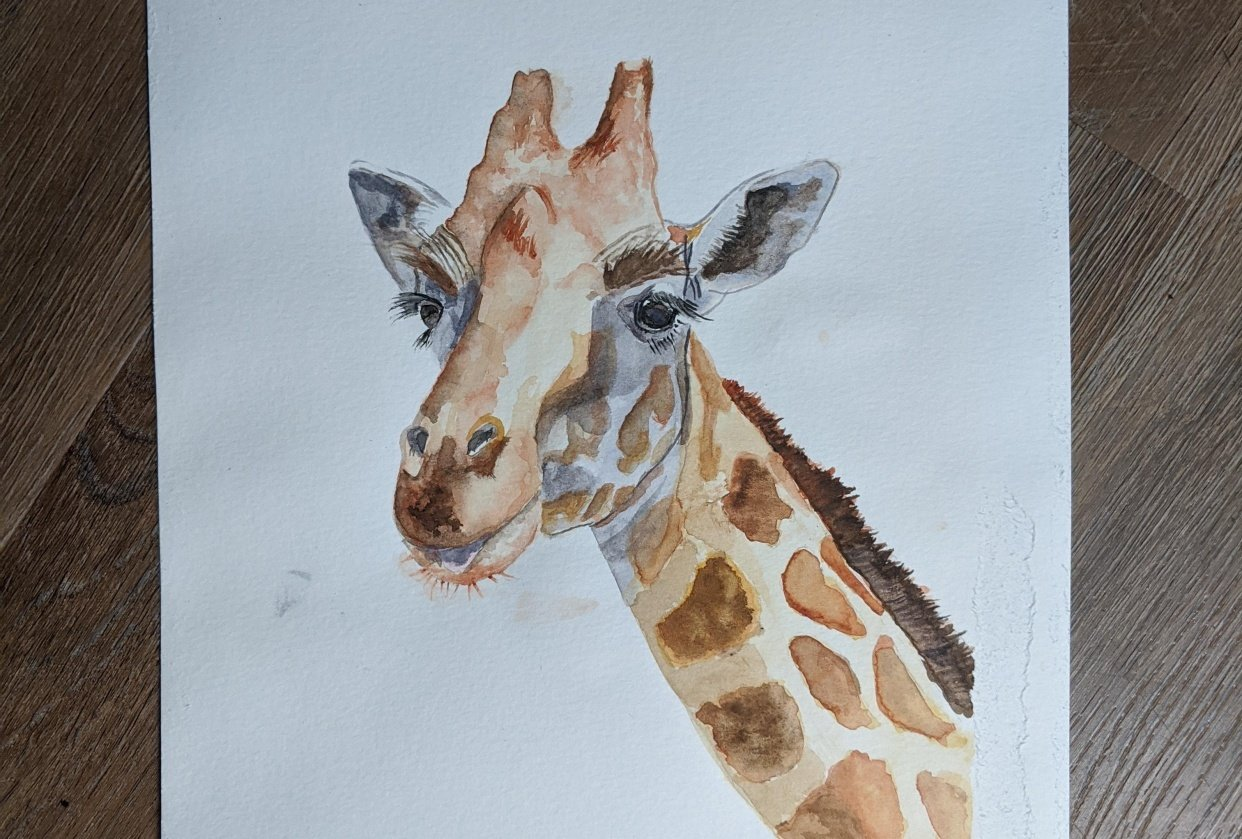 Giraffe Watercolor Tutorial - student project