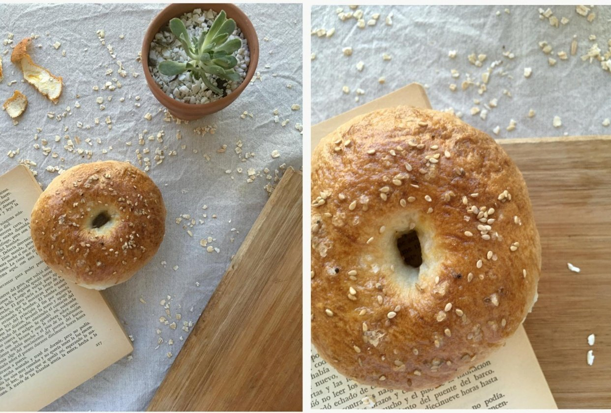 Homemade bagels - student project