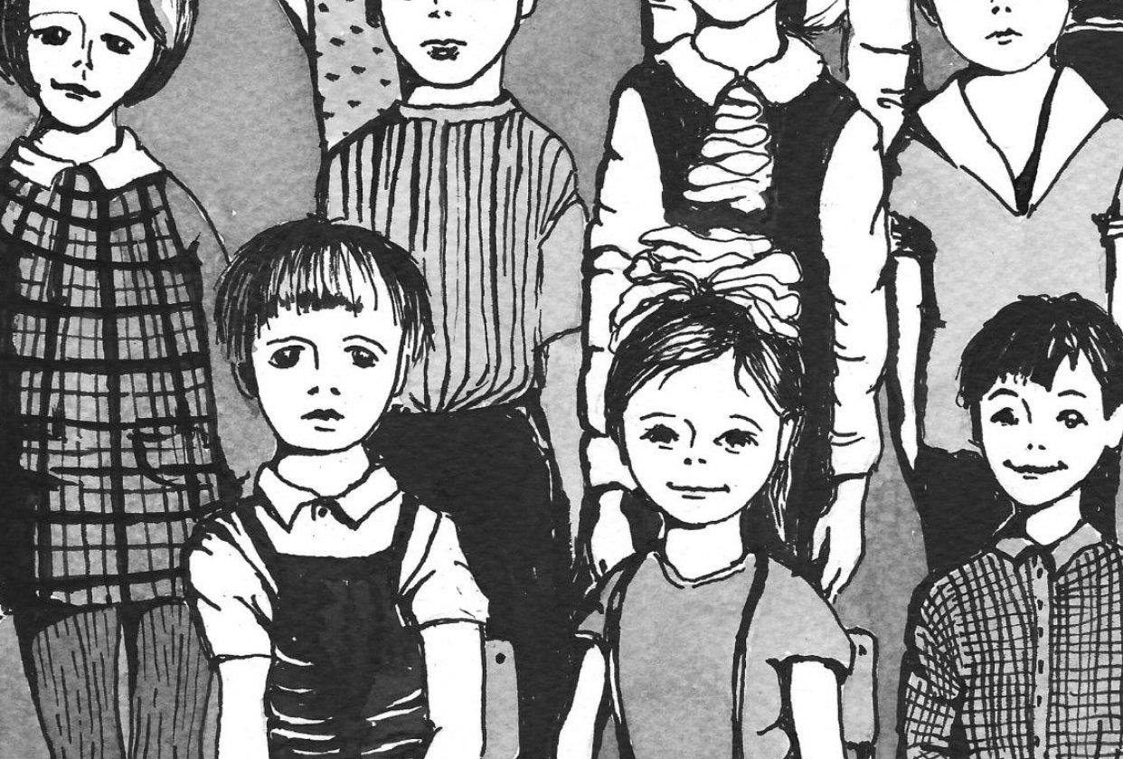 Kindergarten class 1978 - student project