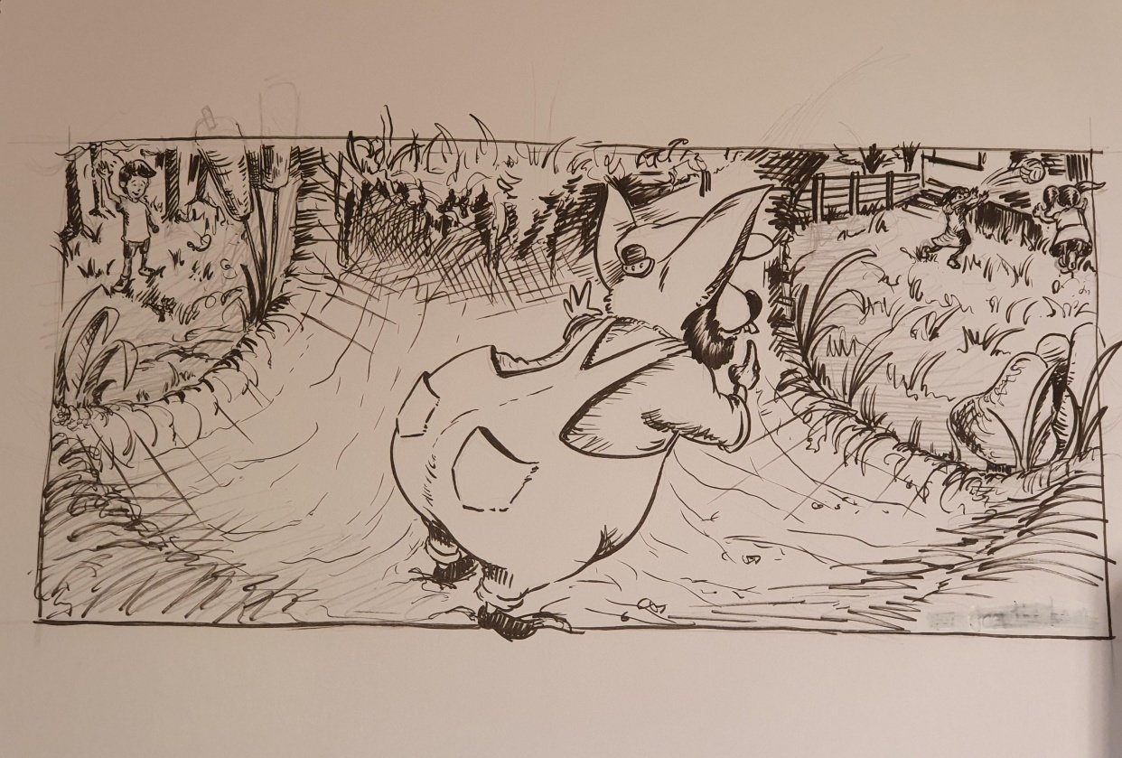 Willie Wombat travels through the magic tunnel... - student project