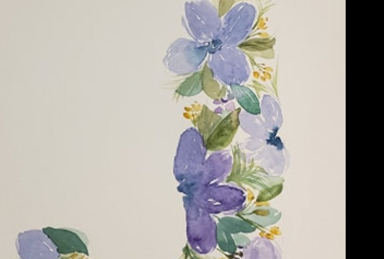 Floral Letter - student project