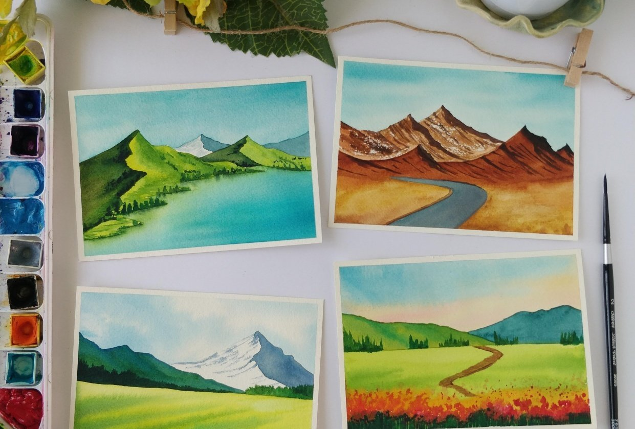 4 beautiful Landscapes! - student project
