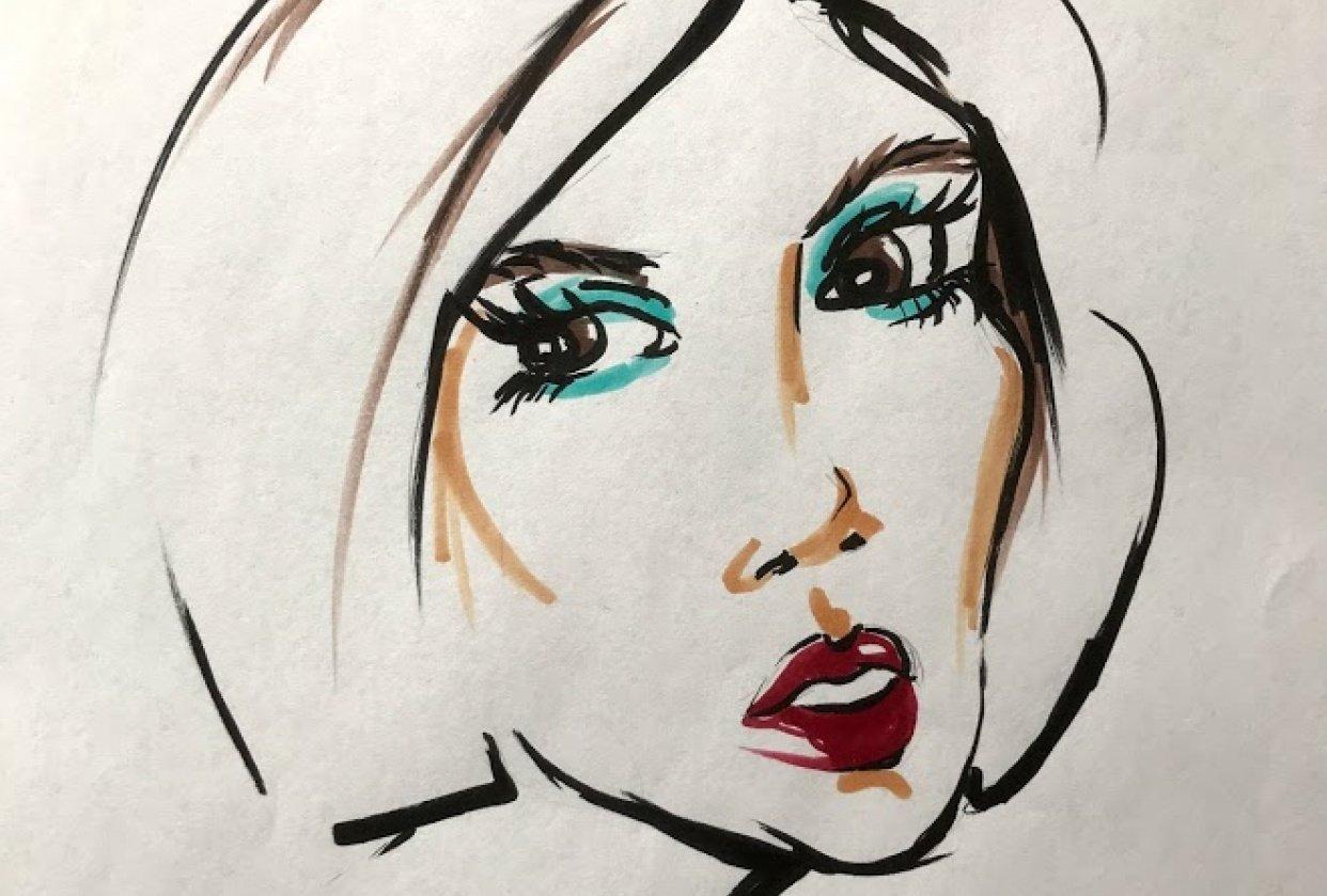 Fashion portrait Markers - student project